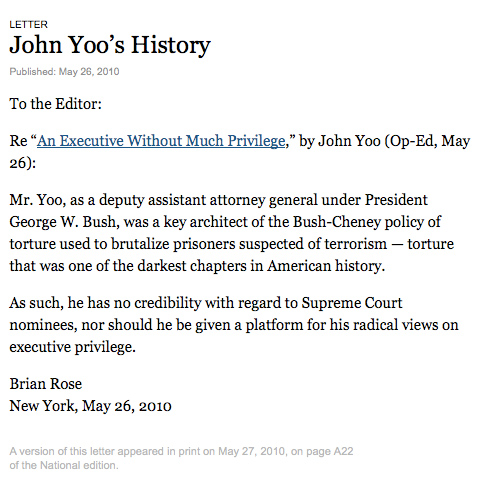 New York Letter In The Times Journal Brian Rose